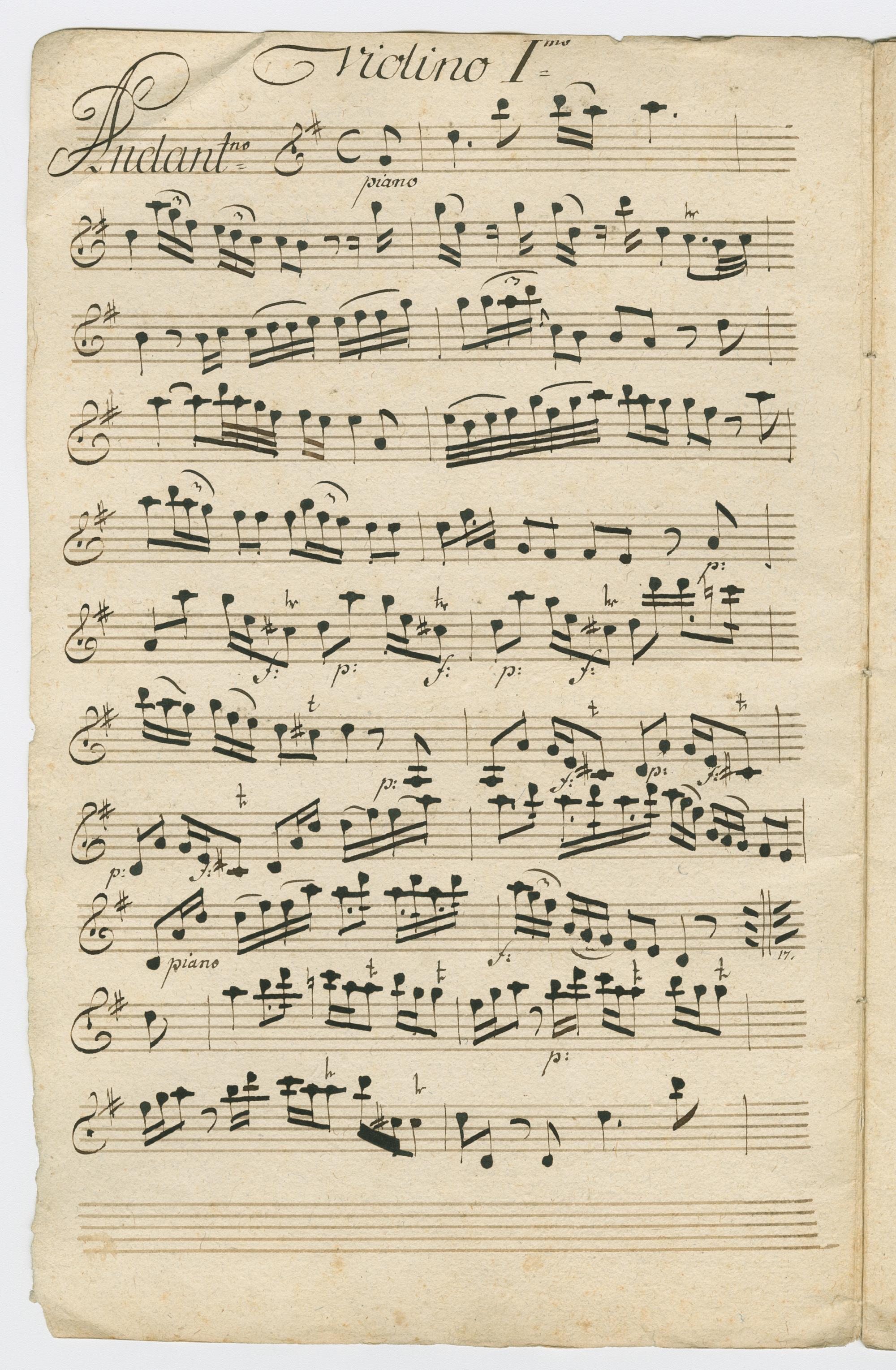 Amandus Ivanschiz, , Violino I (A-Wgm, XIII                   1325)